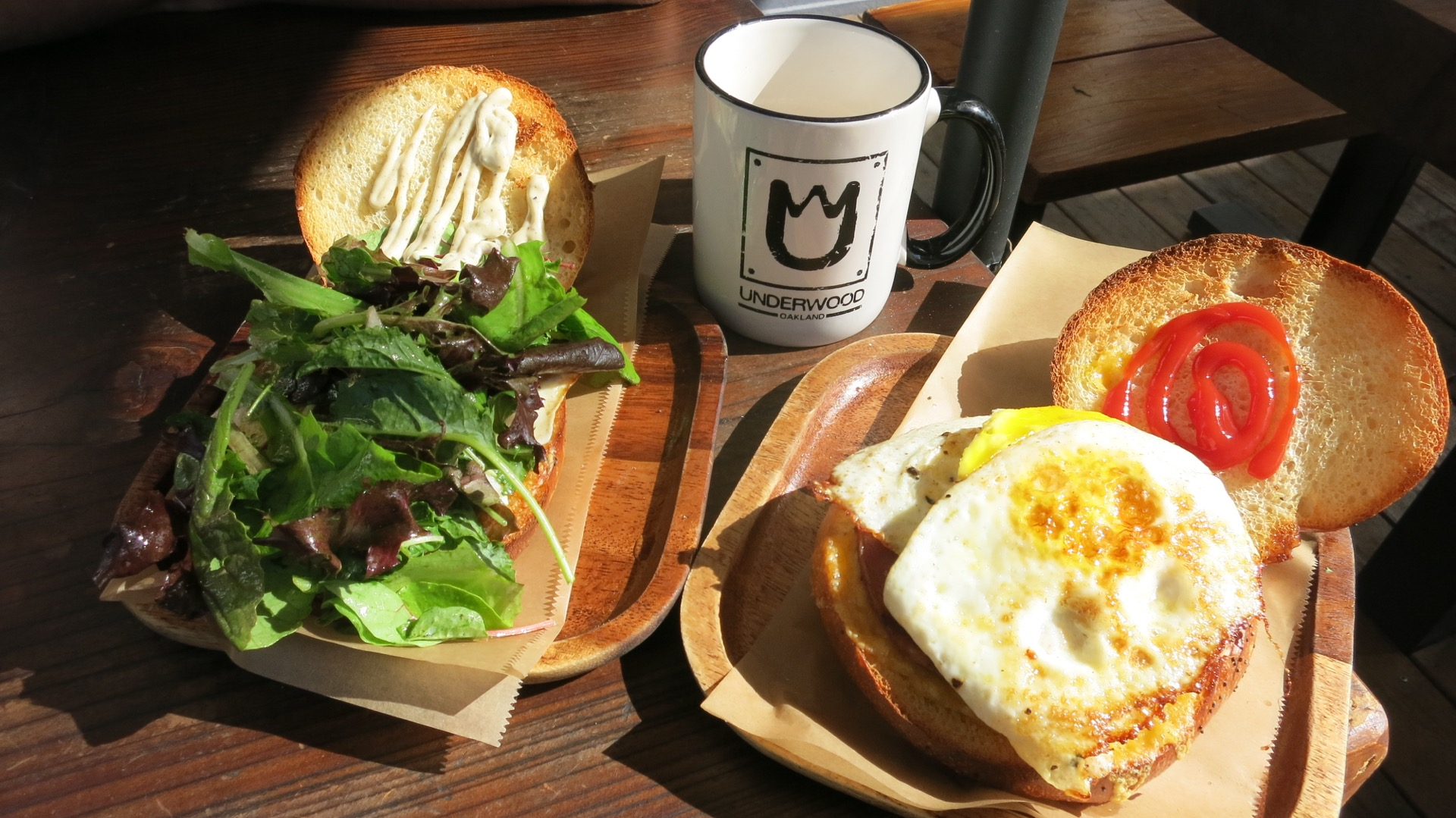 The Yoakland and Jersey Breakfast sandwiches from Oakland's Cafe Underwood are inspired takes on what you'd find in delis in the tri-state area.