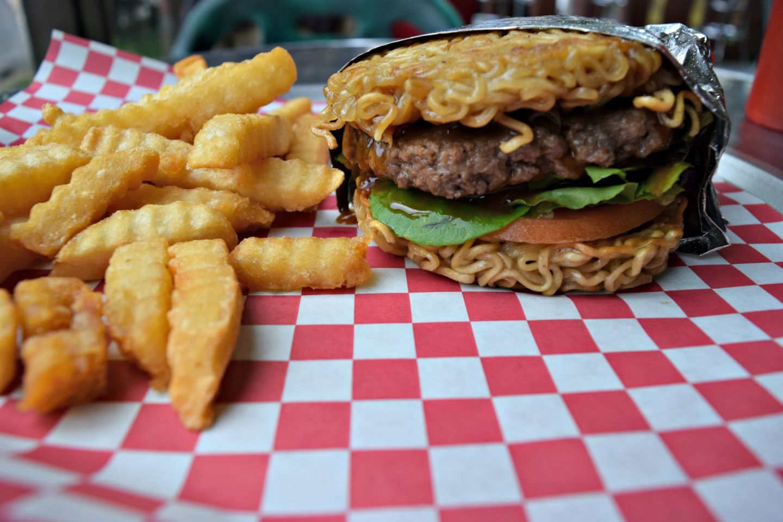 R&B Cafe's ramen burger.