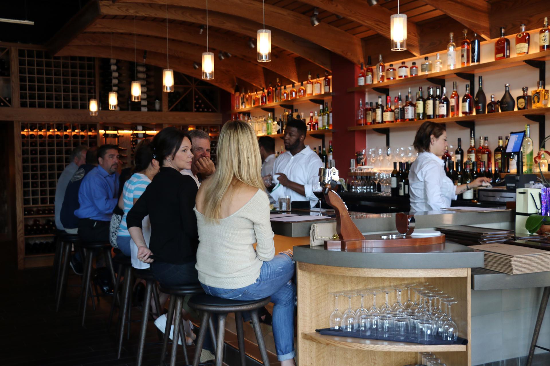 The convivial bar at Sabio on Main