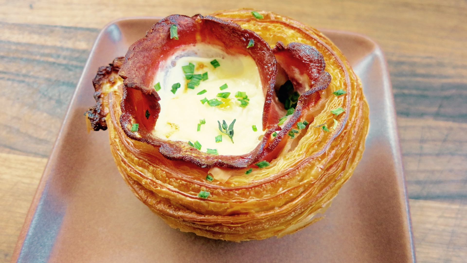 The magnificent ham-and-cheese croissant from Fournée Bakery.