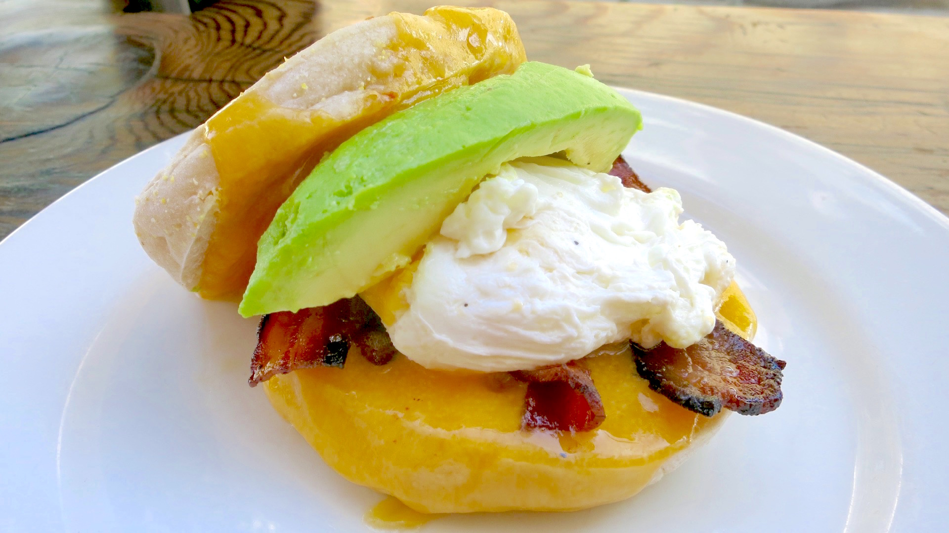 You get more bang for your buck with Chop Bar's version of the Egg McMuffin.