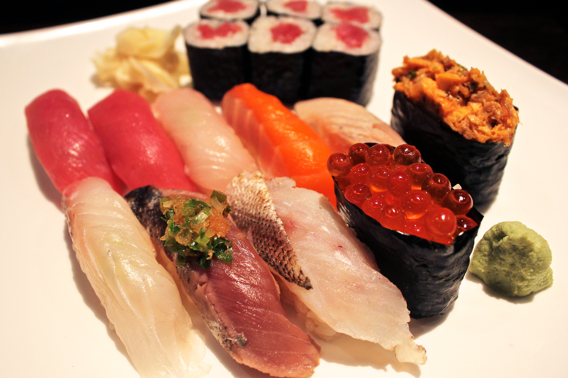 The sushi dinner deluxe at Jin Sho.