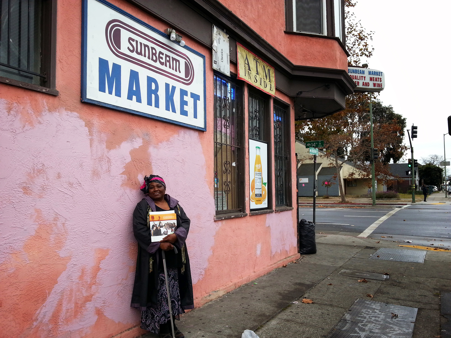 Paula Beal, HOPE Healthy Corner Store Leader, has been helping out with the transition of Sunbeam Market in West Oakland.