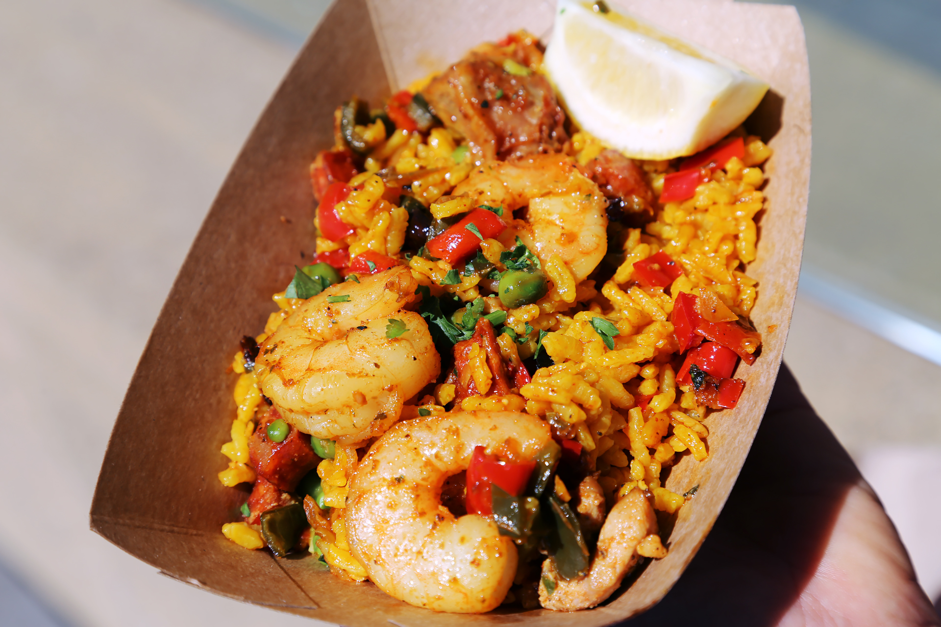La Marcha: Seafood paella