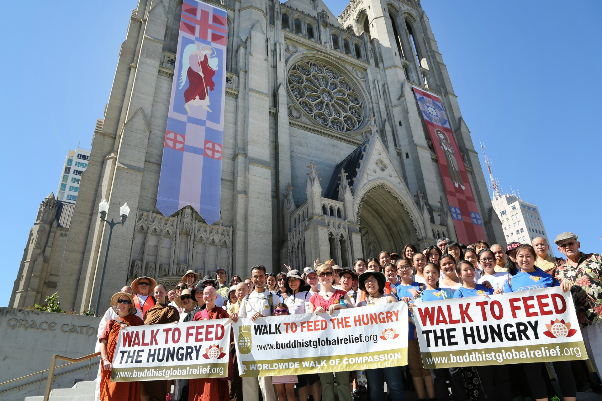 Last year's Walk to Feed the Hungry in front of Grace Cathedral