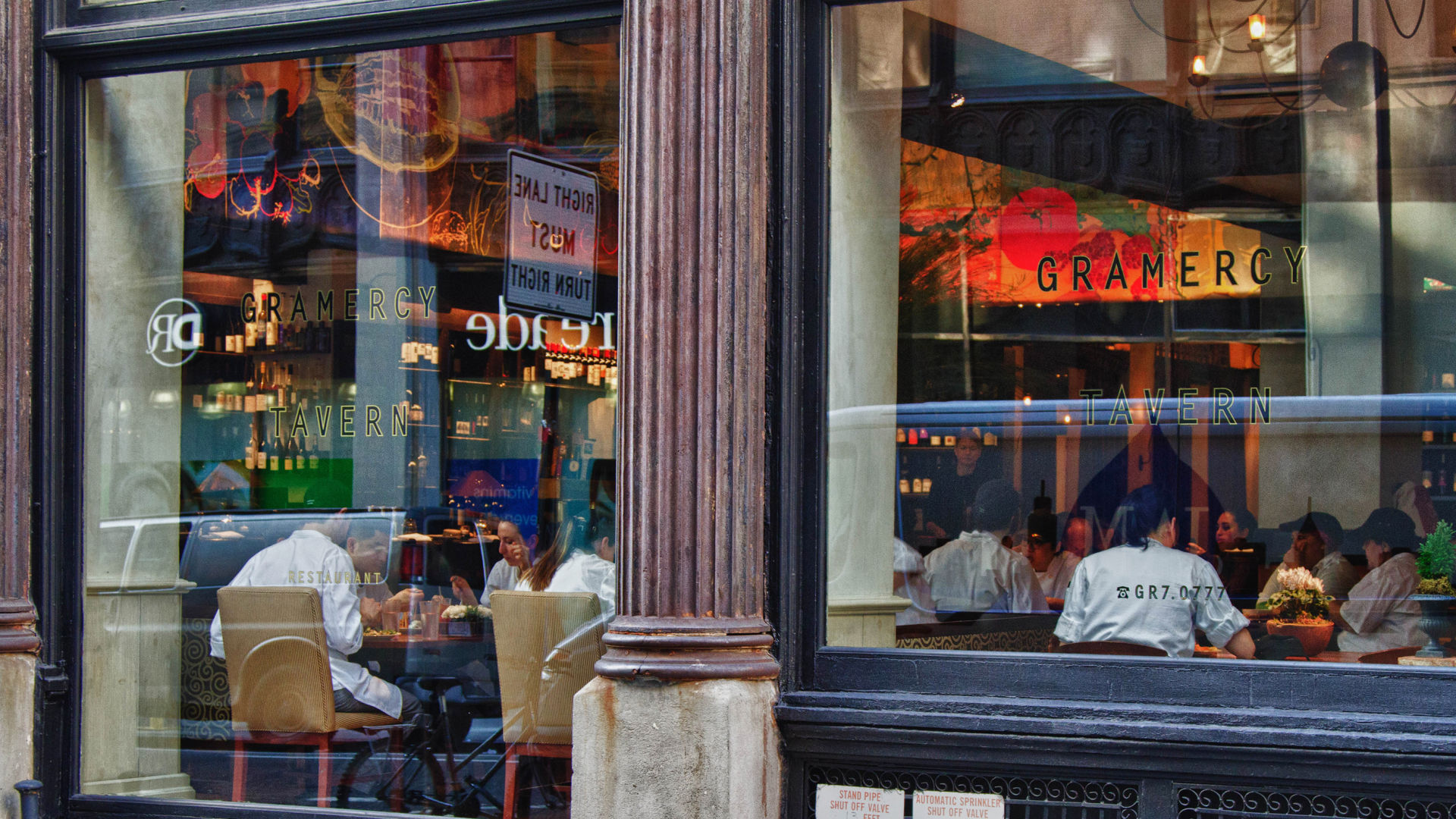 Gramercy Tavern, in New York City, one of Danny Meyer's restaurants. Meyer says he will try to keep the new prices on par with a 21 percent tip — what diners have been adding on average lately.