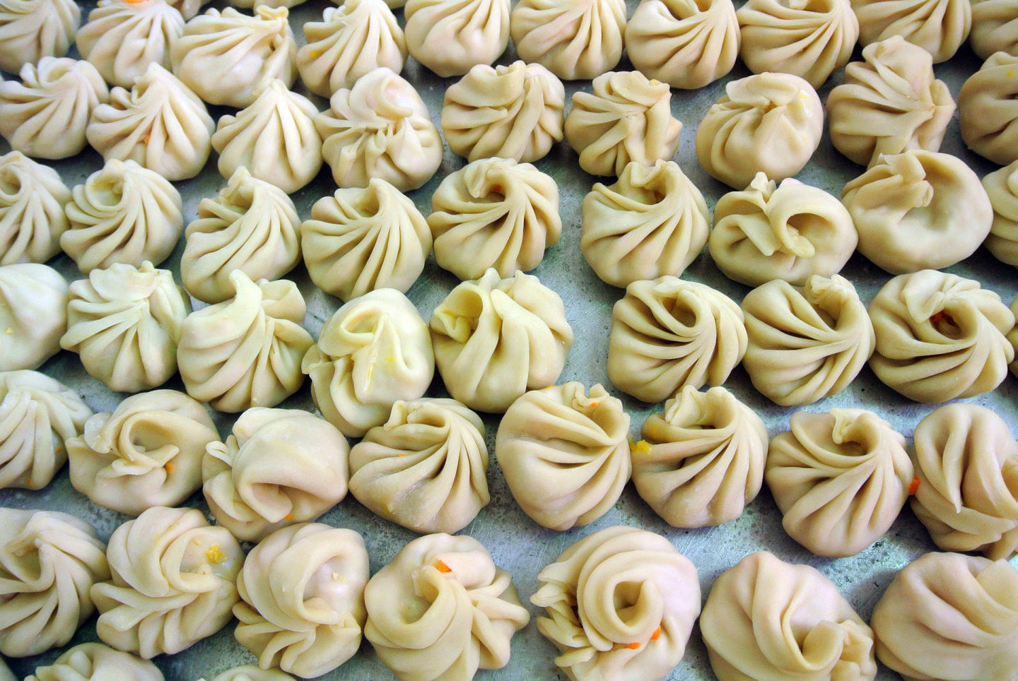 Momos ready for steaming at Bini's Kitchen Renée Alexander