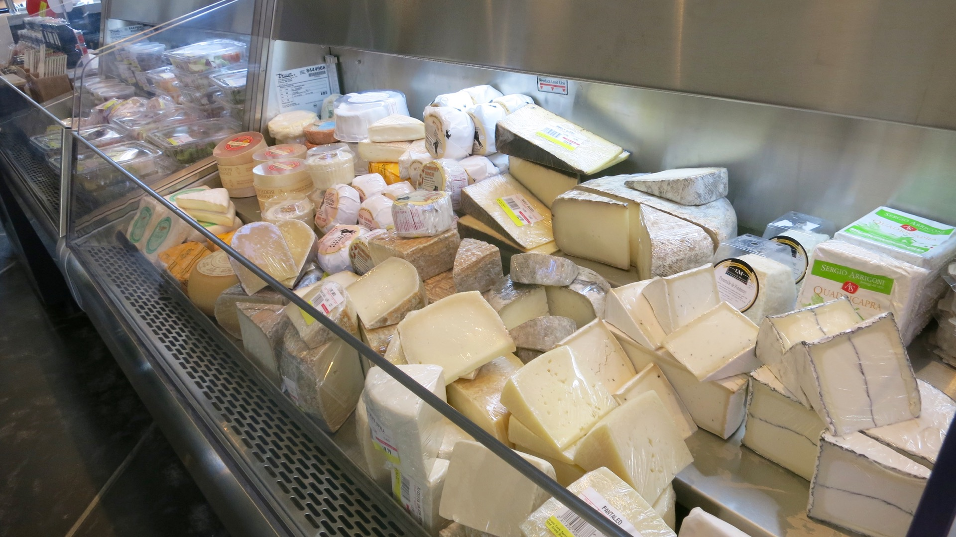 A buffet of cheese.
