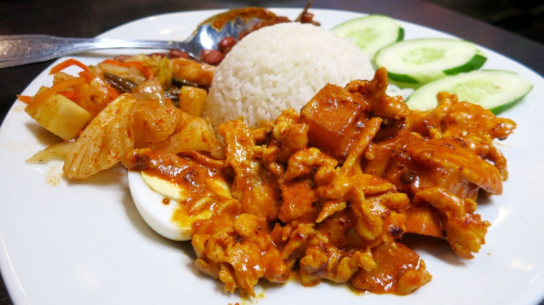 Nasi lemak, the national dish of Malaysia, at Chilli Padi. Jenny Oh