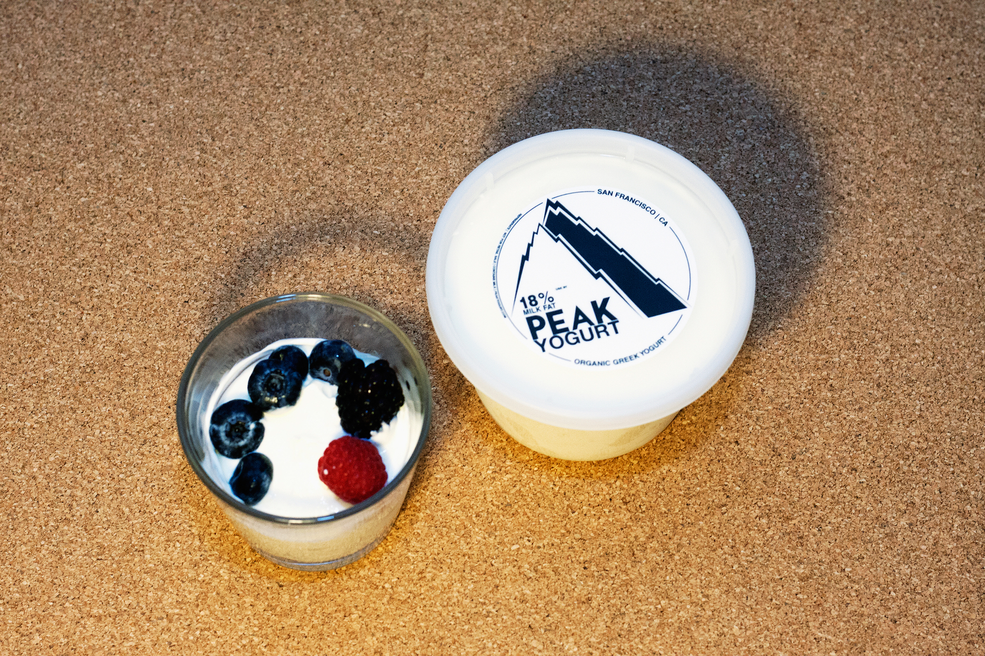 Peak Yogurt tastes great with berries or honey, says Sims, just like other yogurts.