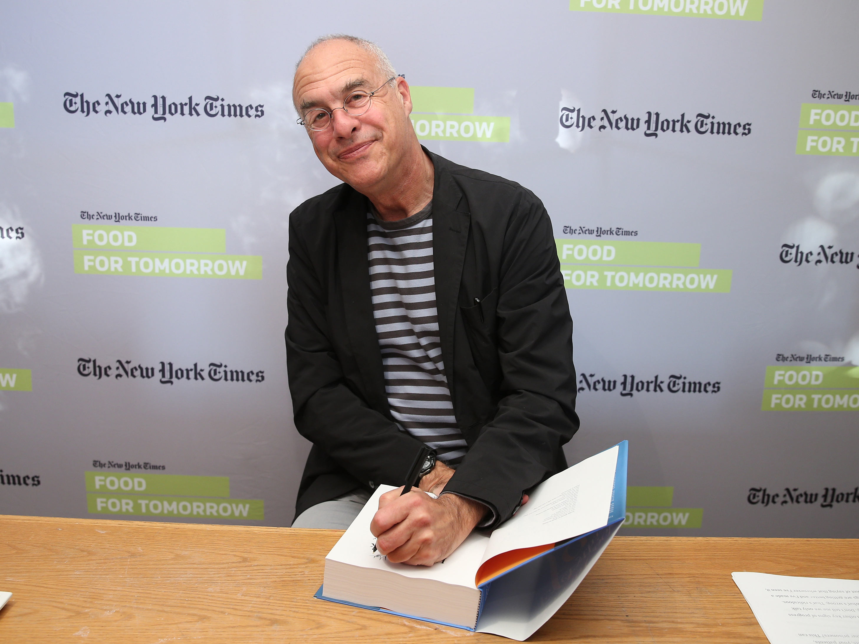 "Mark Bittman, seen here on a 2014 book tour, is leaving his writing job at The New York Times, but not his advocacy for good food. ""I have more to say, and I imagine I'll find a way to say it,"" he says, laughing."