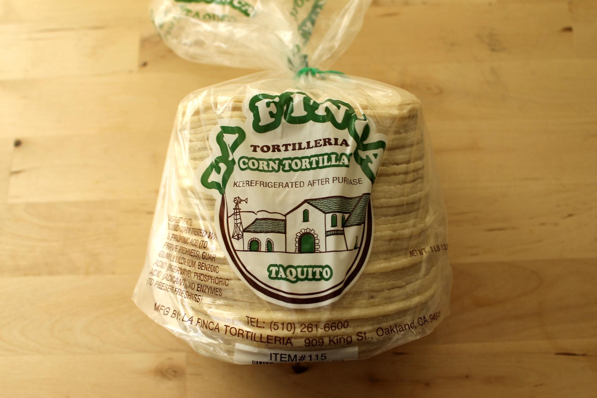 La Finca Taquito Corn Tortillas.