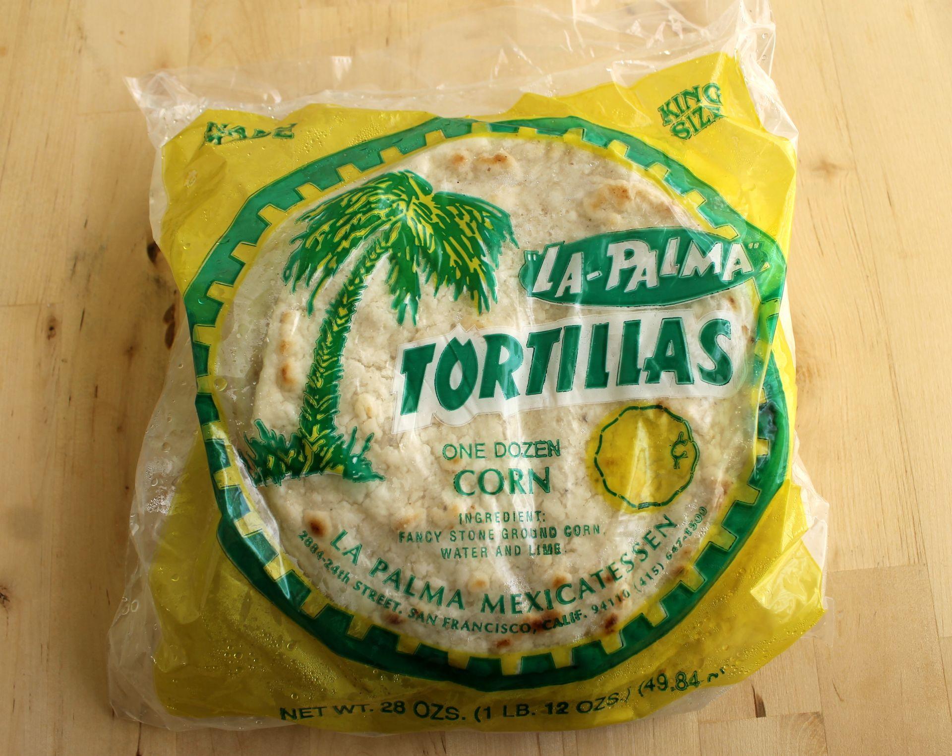 La Palma handmade corn tortillas.