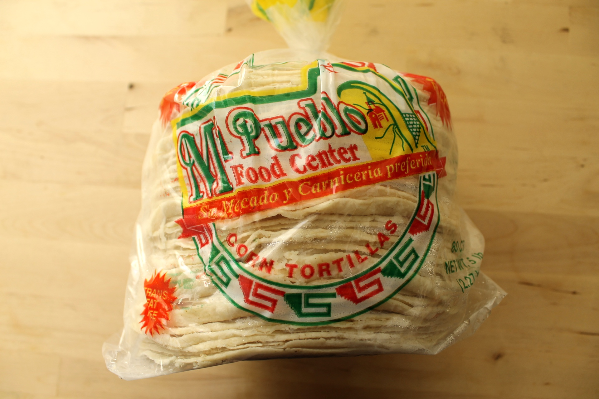Mi Pueblo corn tortillas.