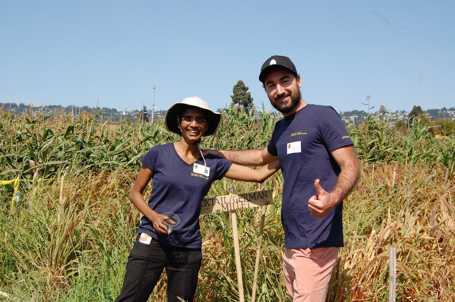 Millet Project team members Amrita Hazra (left) and Gavin Abreu (right)