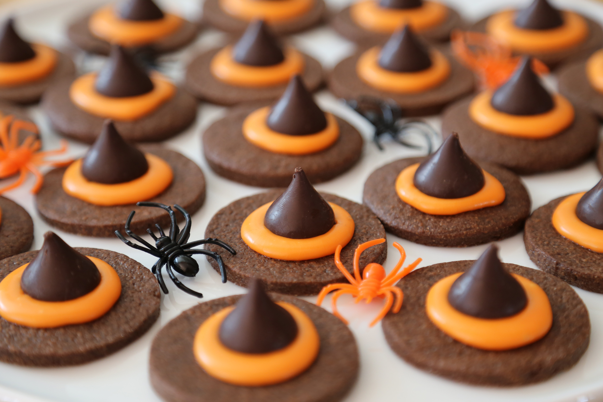 Halloween Chocolate Wicked Witch Hat Cookies
