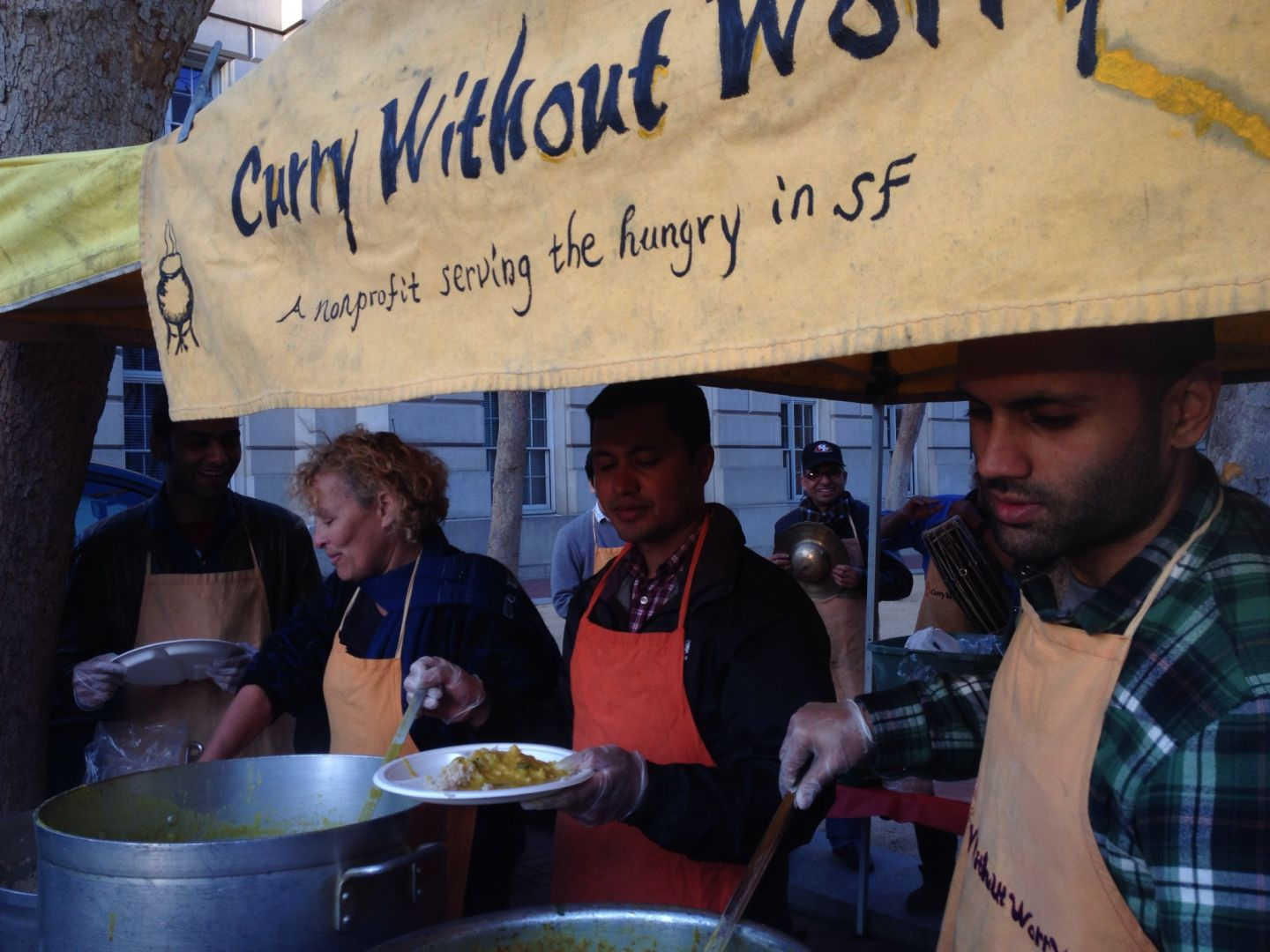 Curry without Worry serves hot meals to the hungry.