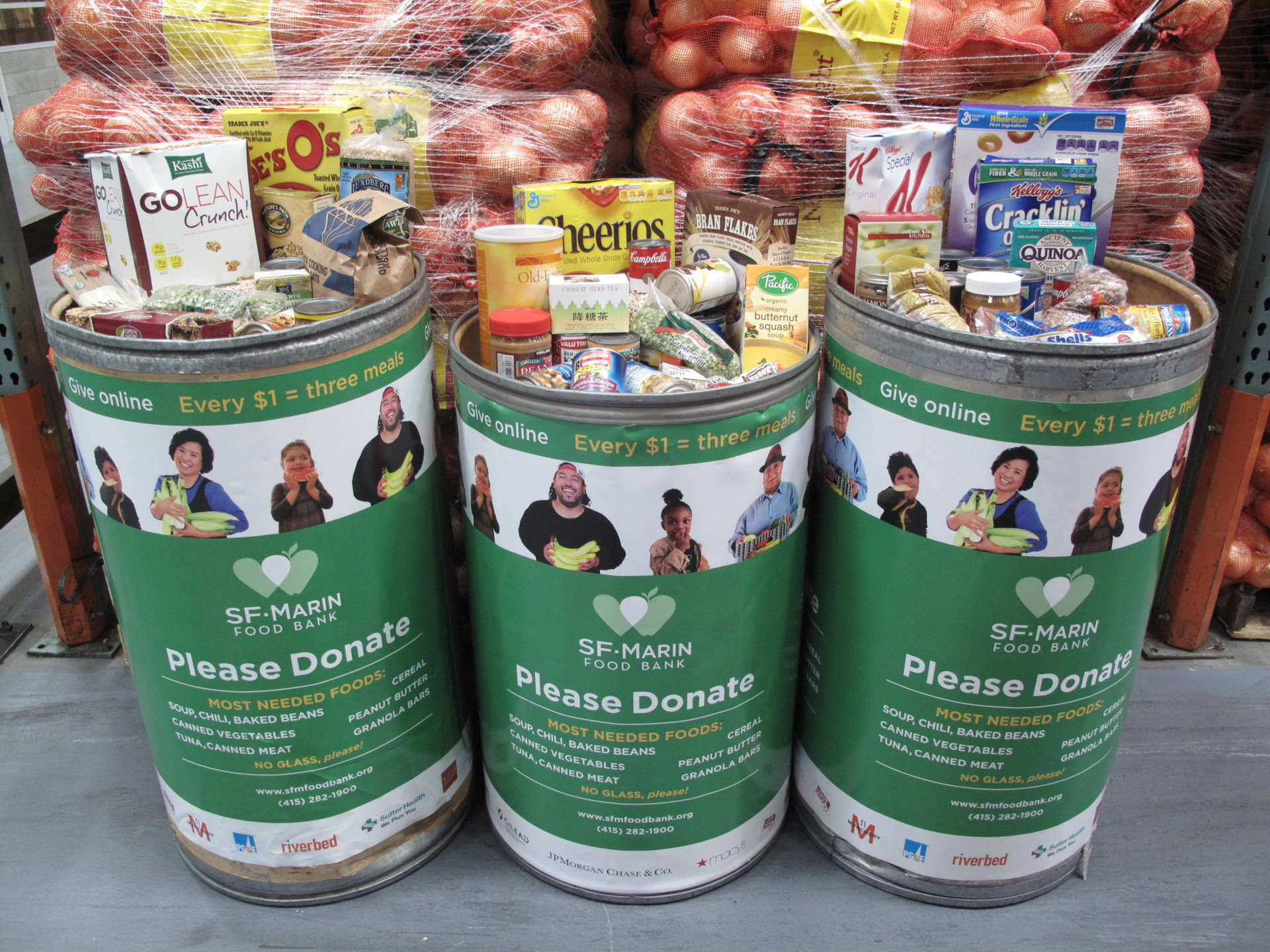 Donate to one of the food drives this holiday.