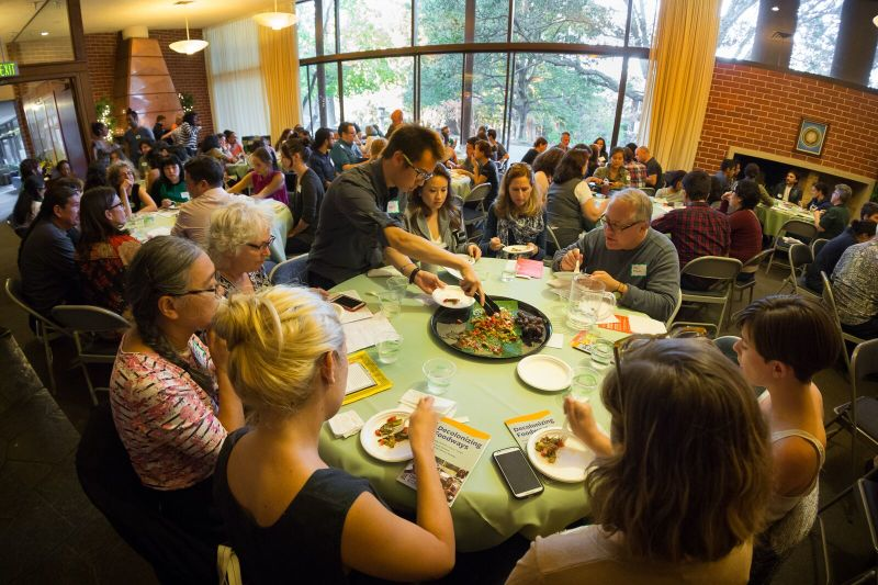 "Students at the University of Pacific's new food studies program participated in this event with the Berkeley Food Institute about ""Decolonizing Foodways."""