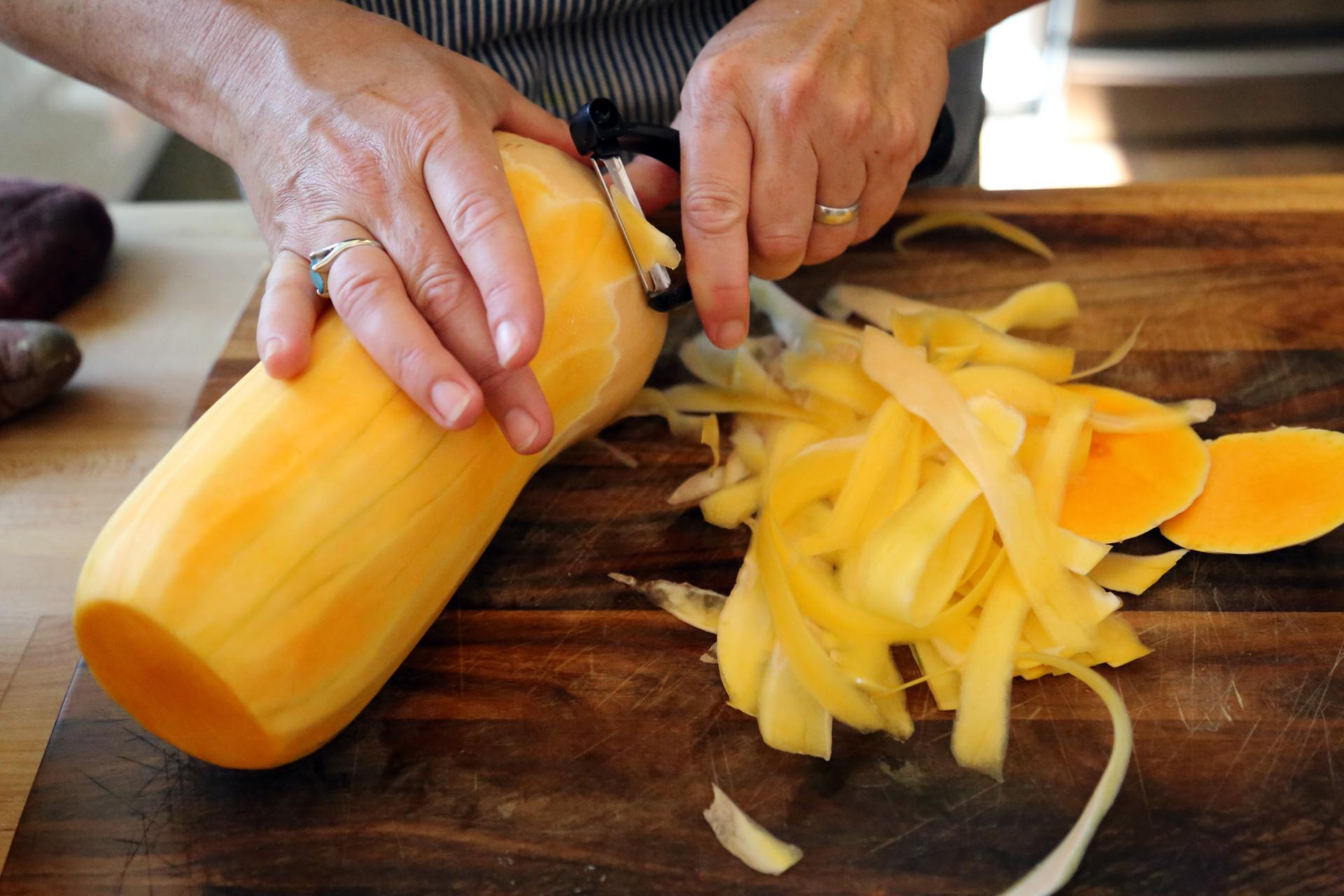 Peel the butternut squash
