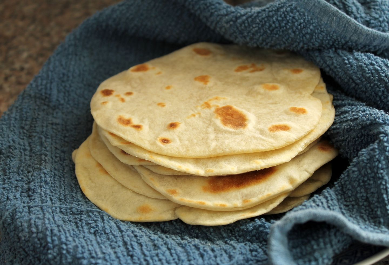 Homemade flour tortillas. Kate Williams
