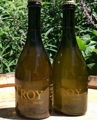 Troy Cider is a sulfite-free cider with organic heirloom apples.