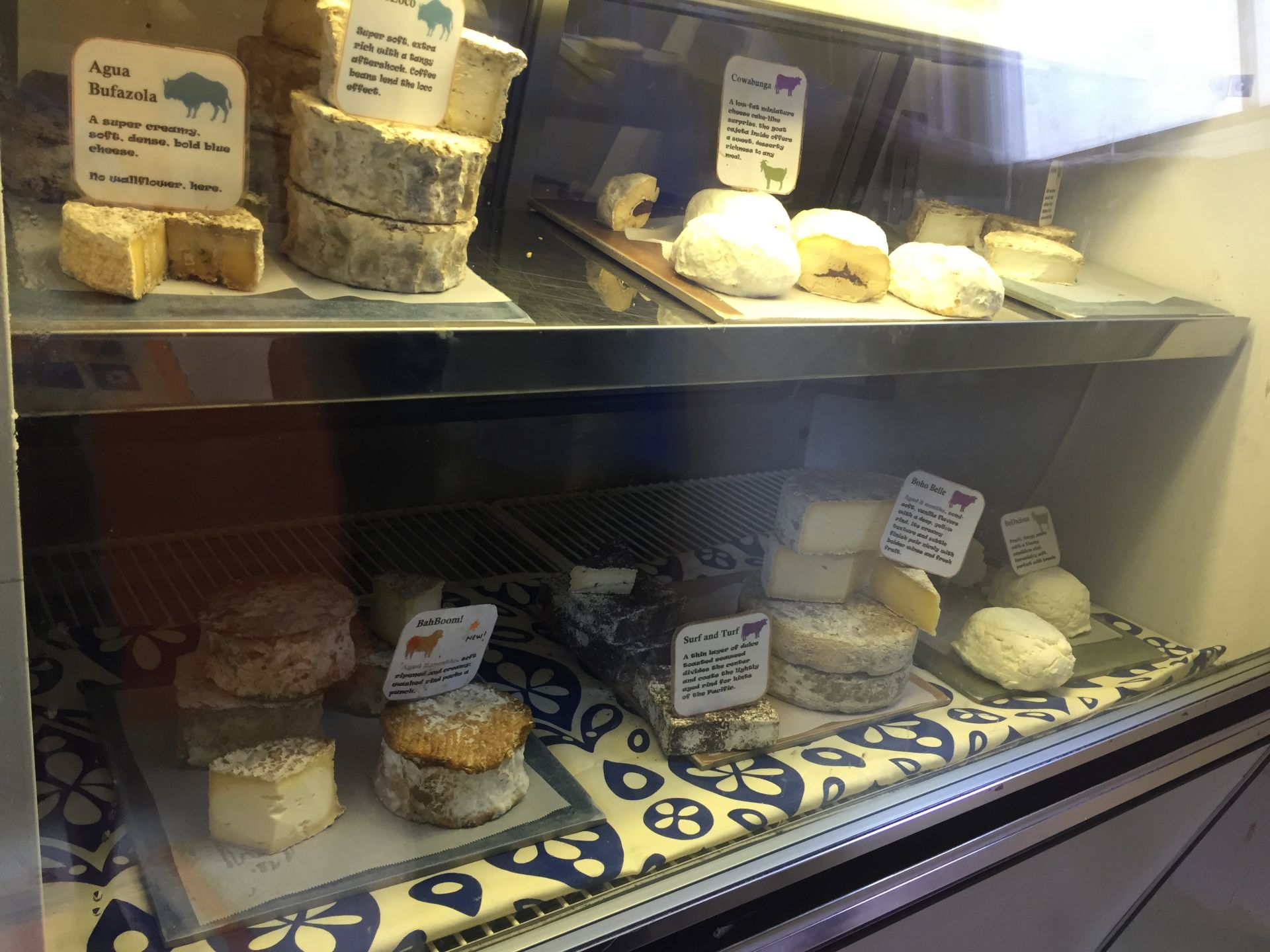 Bohemian Creamery offers 12 different kinds of cheese.
