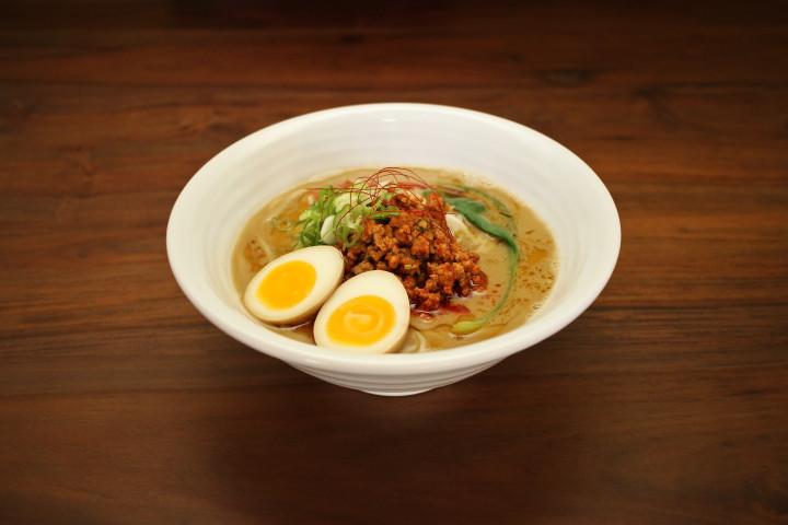 Shiba Ramen's spicy ramen is a take on tan tan mein.