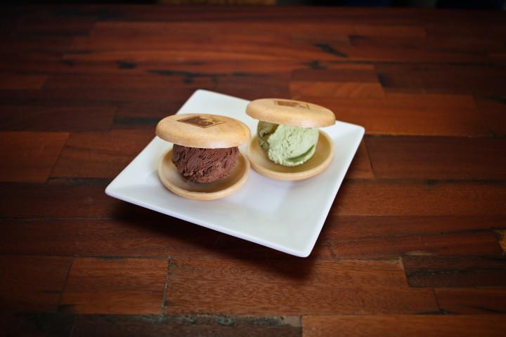 Shiba 'Scream ice cream sandwiches feature Fenton's ice cream.