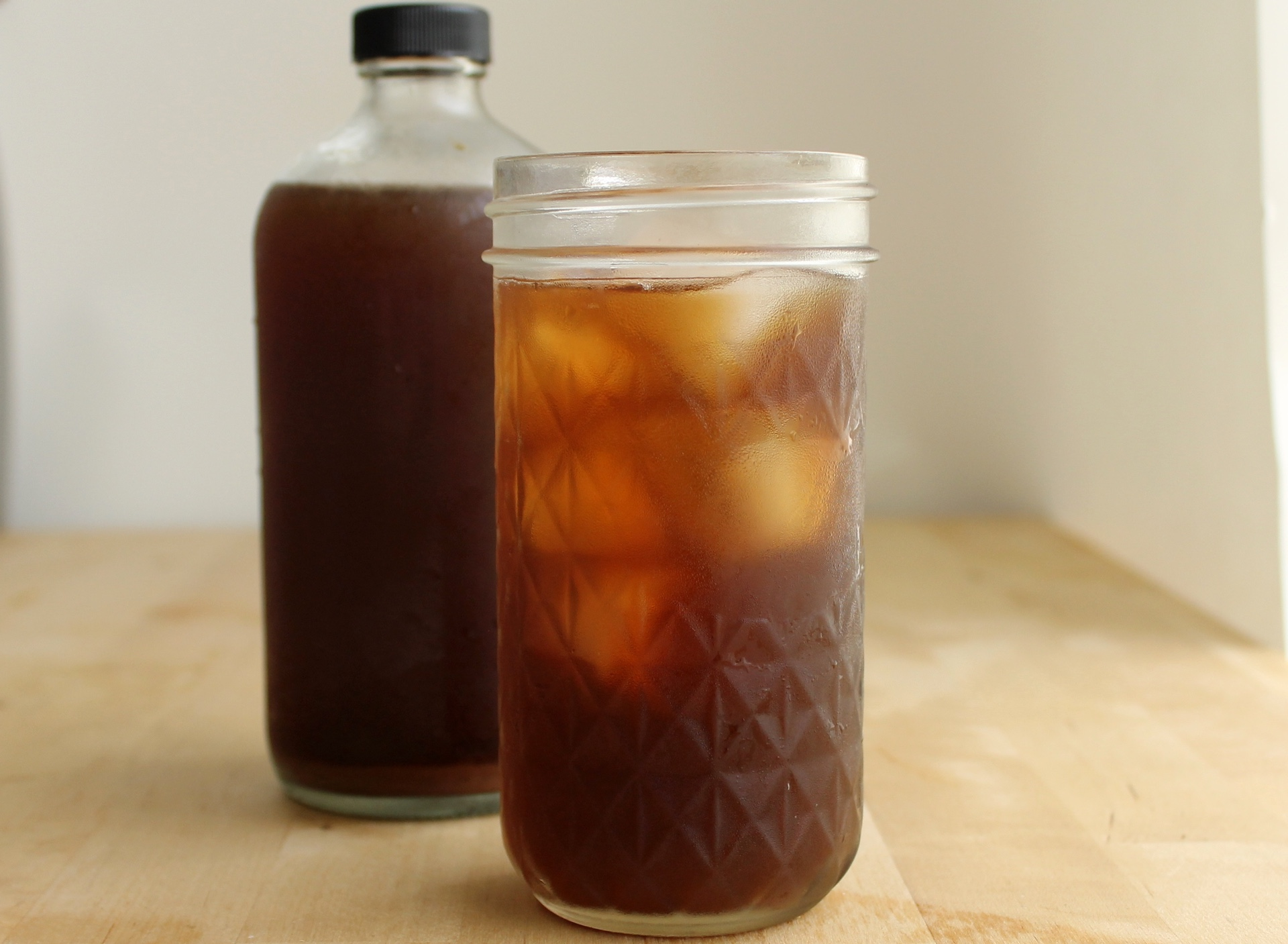 Homemade root beer.