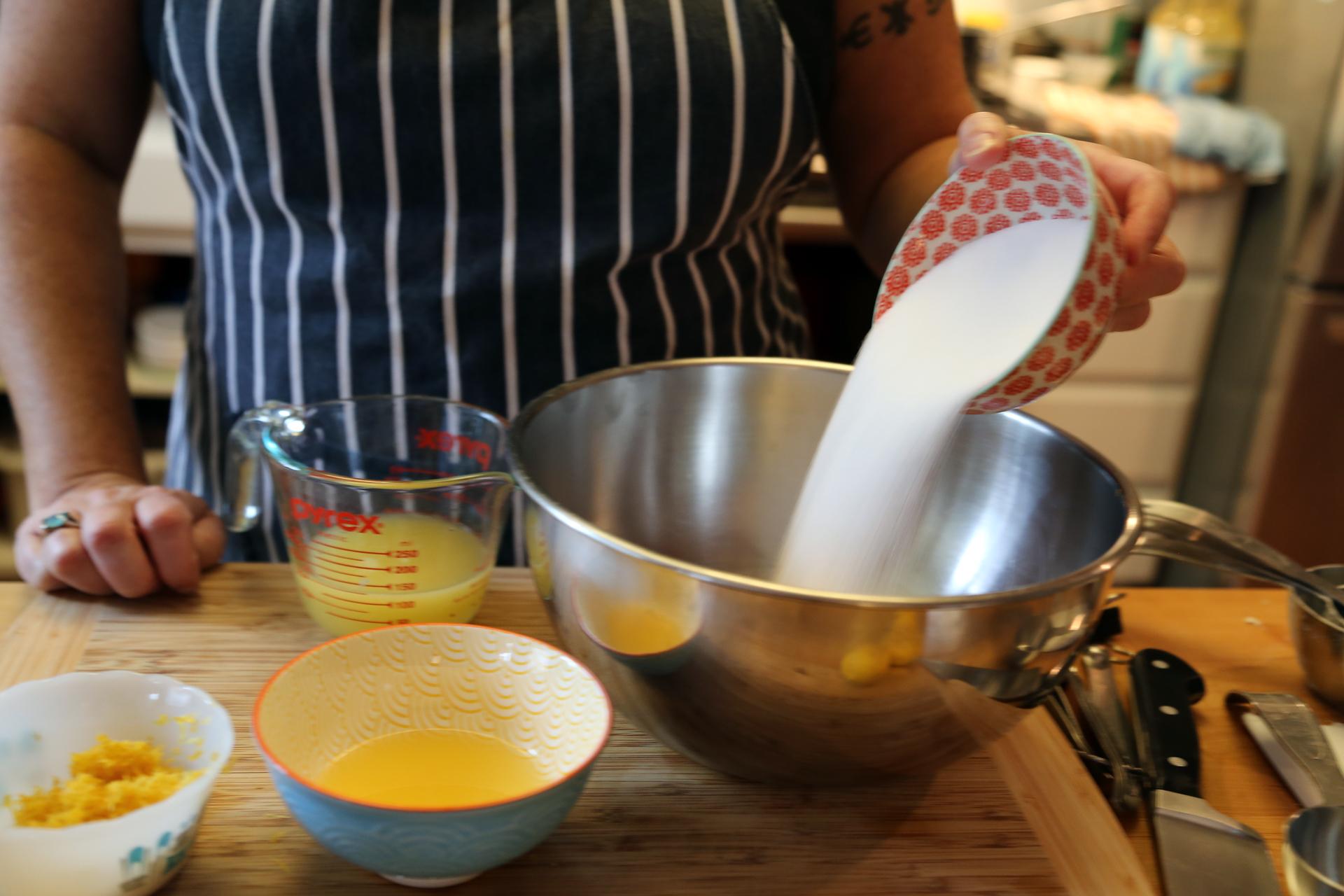 Combine eggs, egg yolks and sugar in heatproof bowl.
