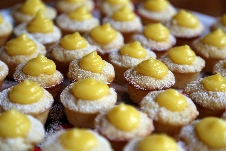Mini Meyer Lemon Curd Cupcakes Wendy Goodfriend