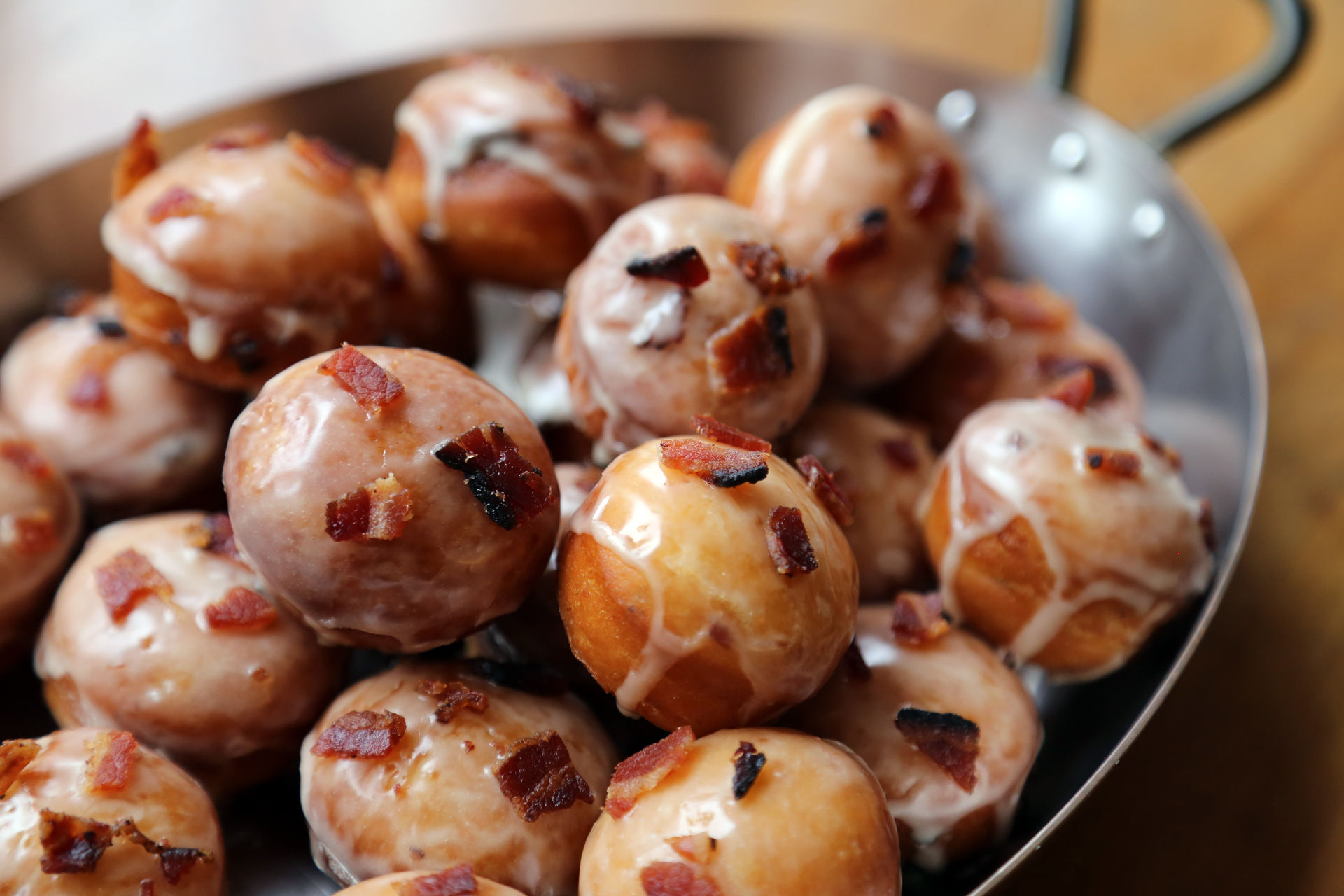 Maple-Bacon Donut Holes