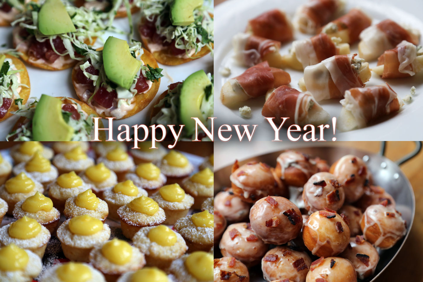 Bay Area Bites New Year's Eve Decadent Spread of Bite-Sized Appetizers