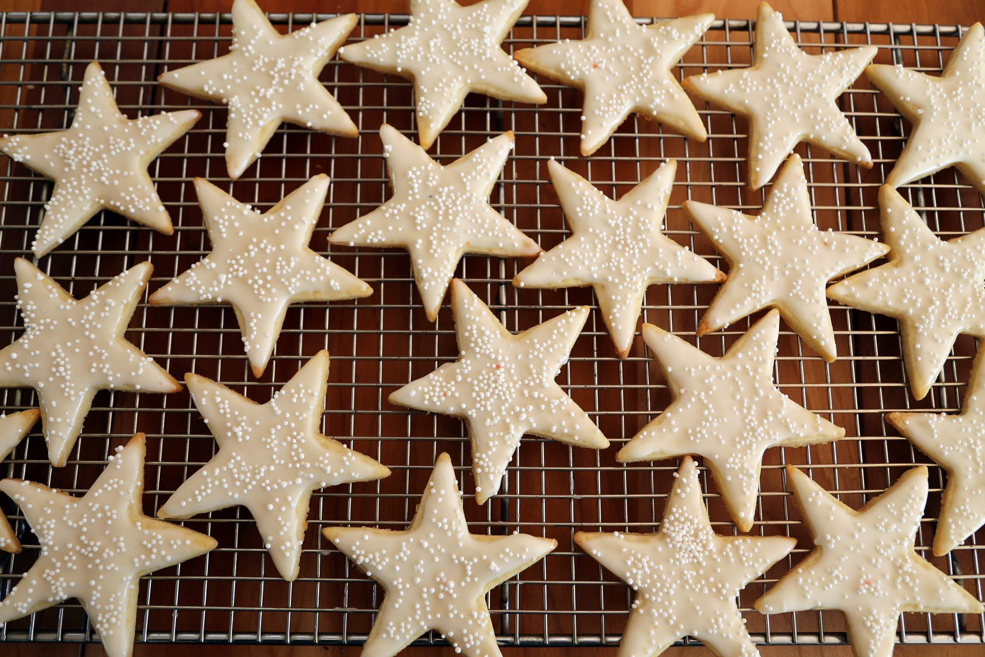 Lemon Iced Sugar Cookie Stars