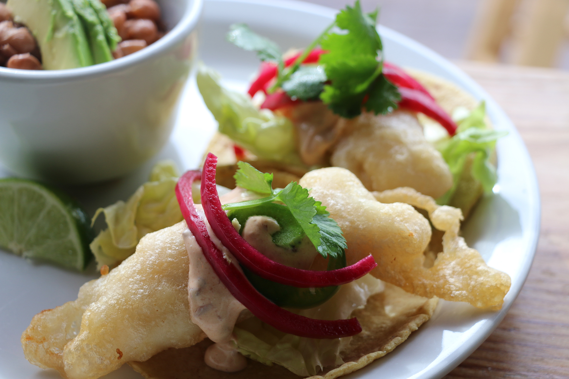 The East Bay's best fried fish taco at Cosecha in Old Oakland