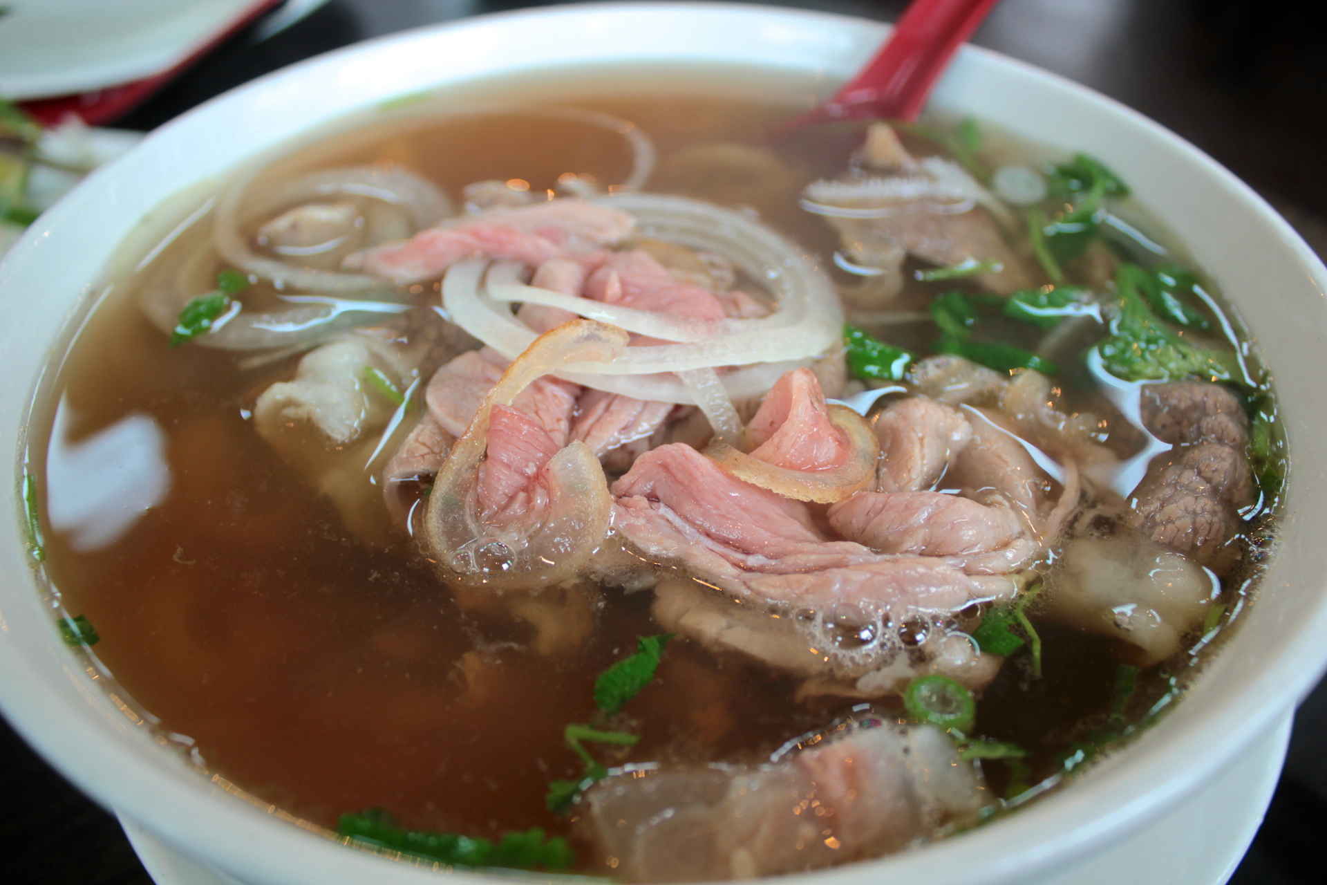 The smoked veal special pho at Pho Factory.