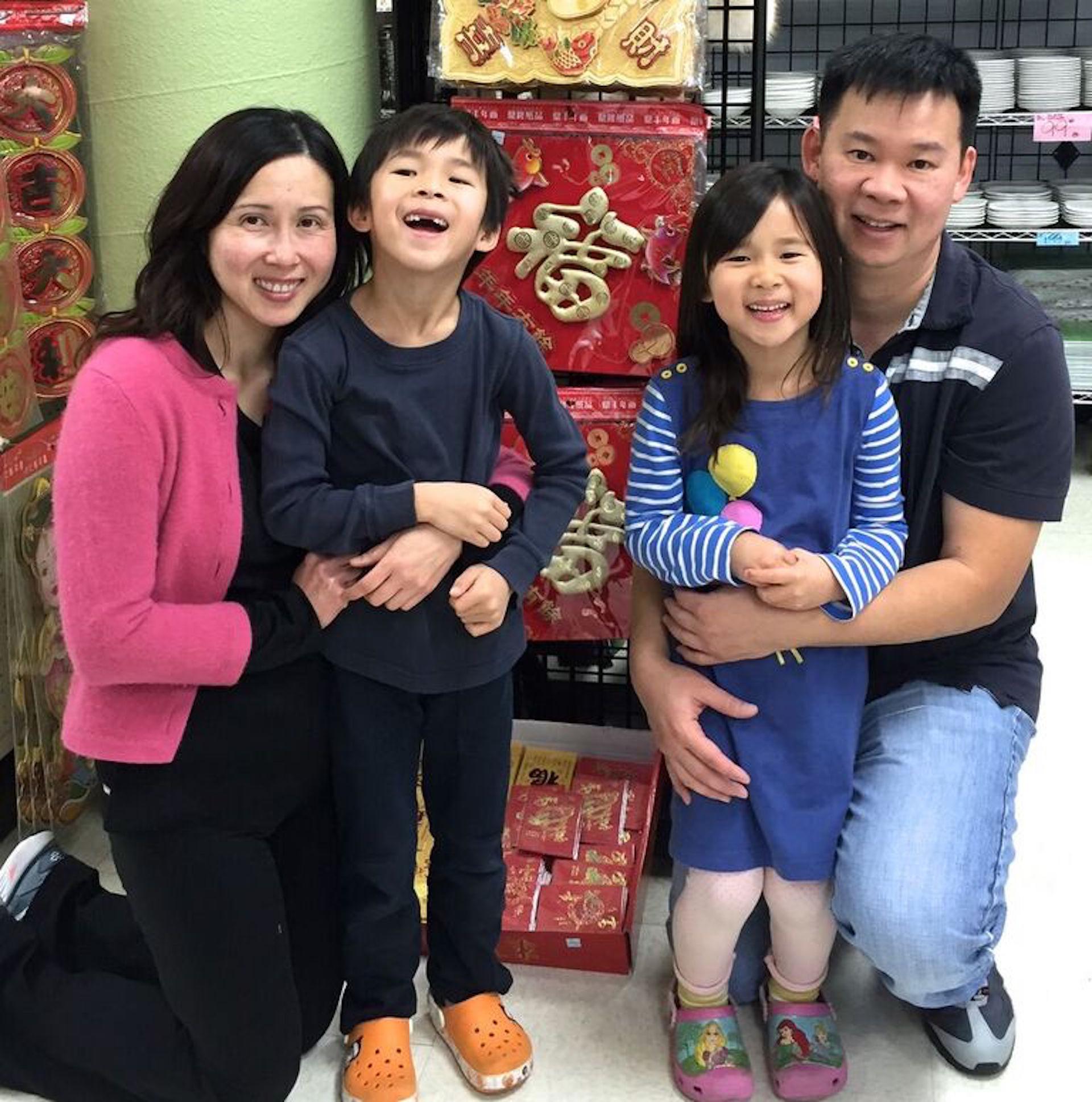 Sandra, Jimmy Lam and family