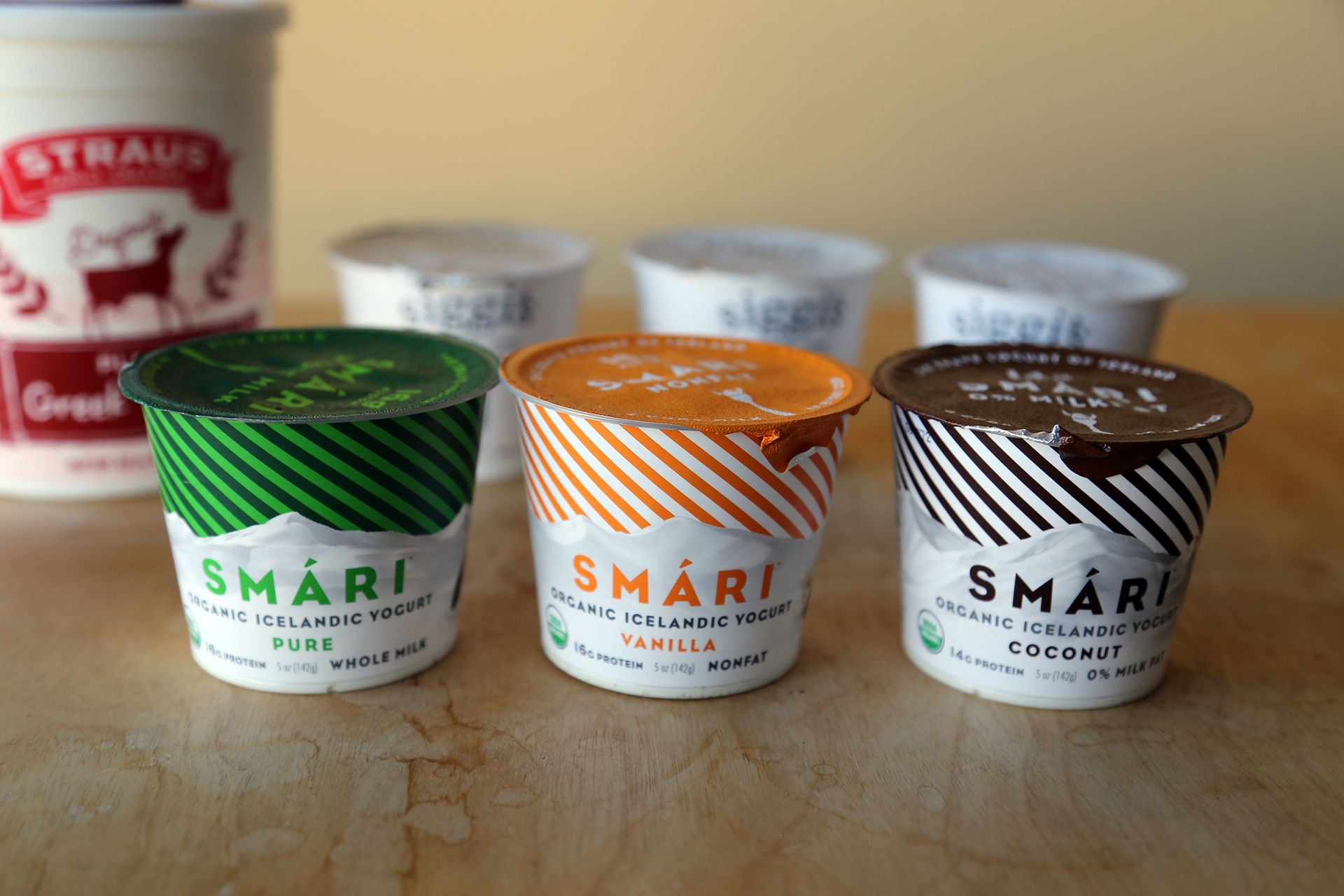 Smári Icelandic Yogurt:  Pure, Vanilla and Coconut