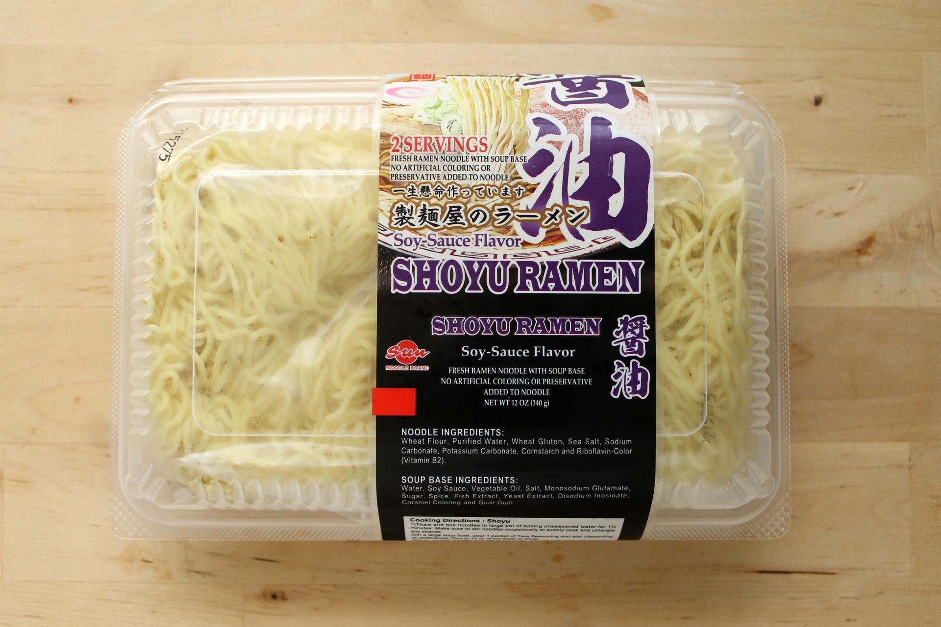 Sun Noodle's Shoyu ramen kit.