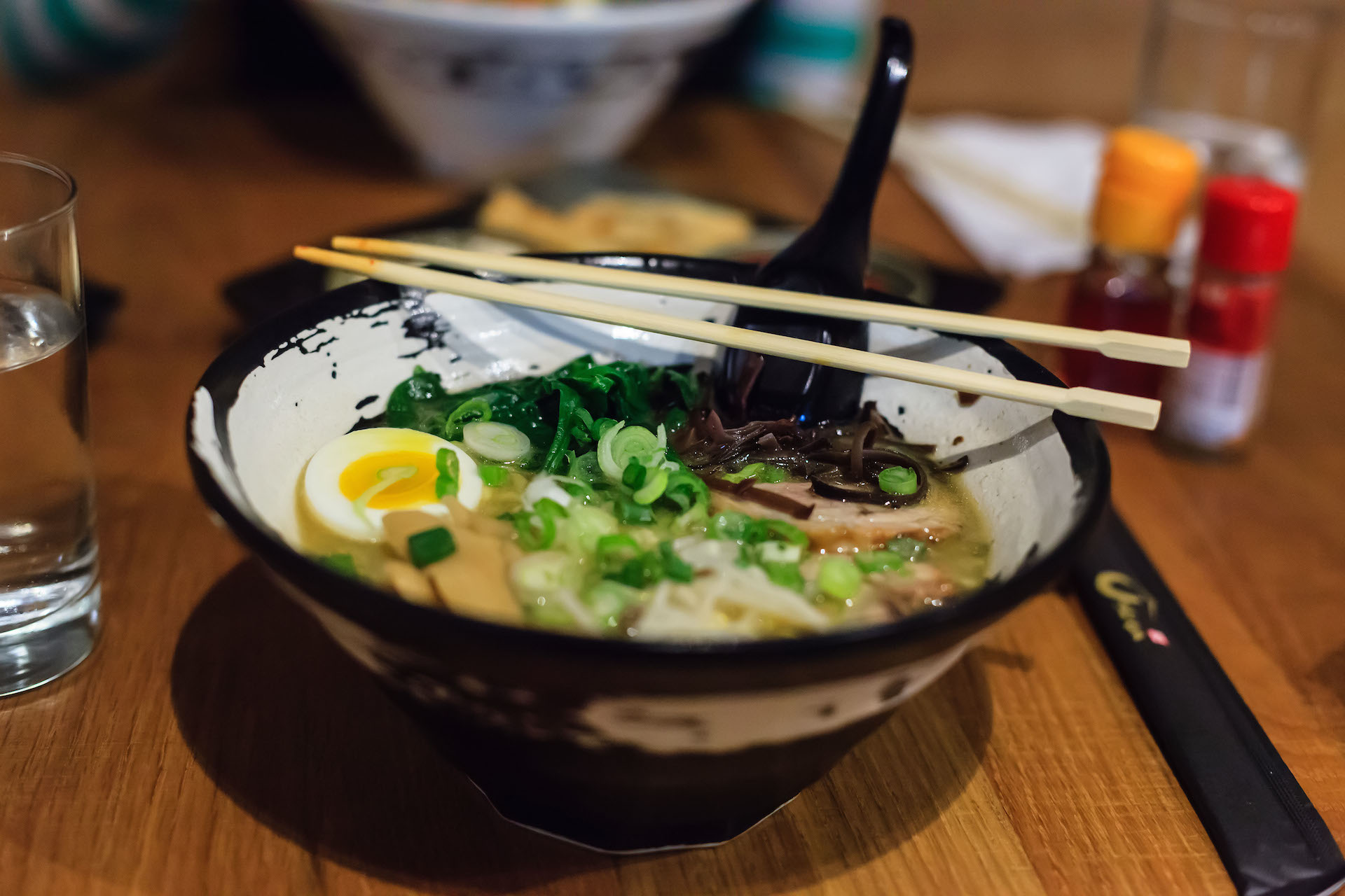 The Tonkotsu ramen is the restaurant's most popular dish.