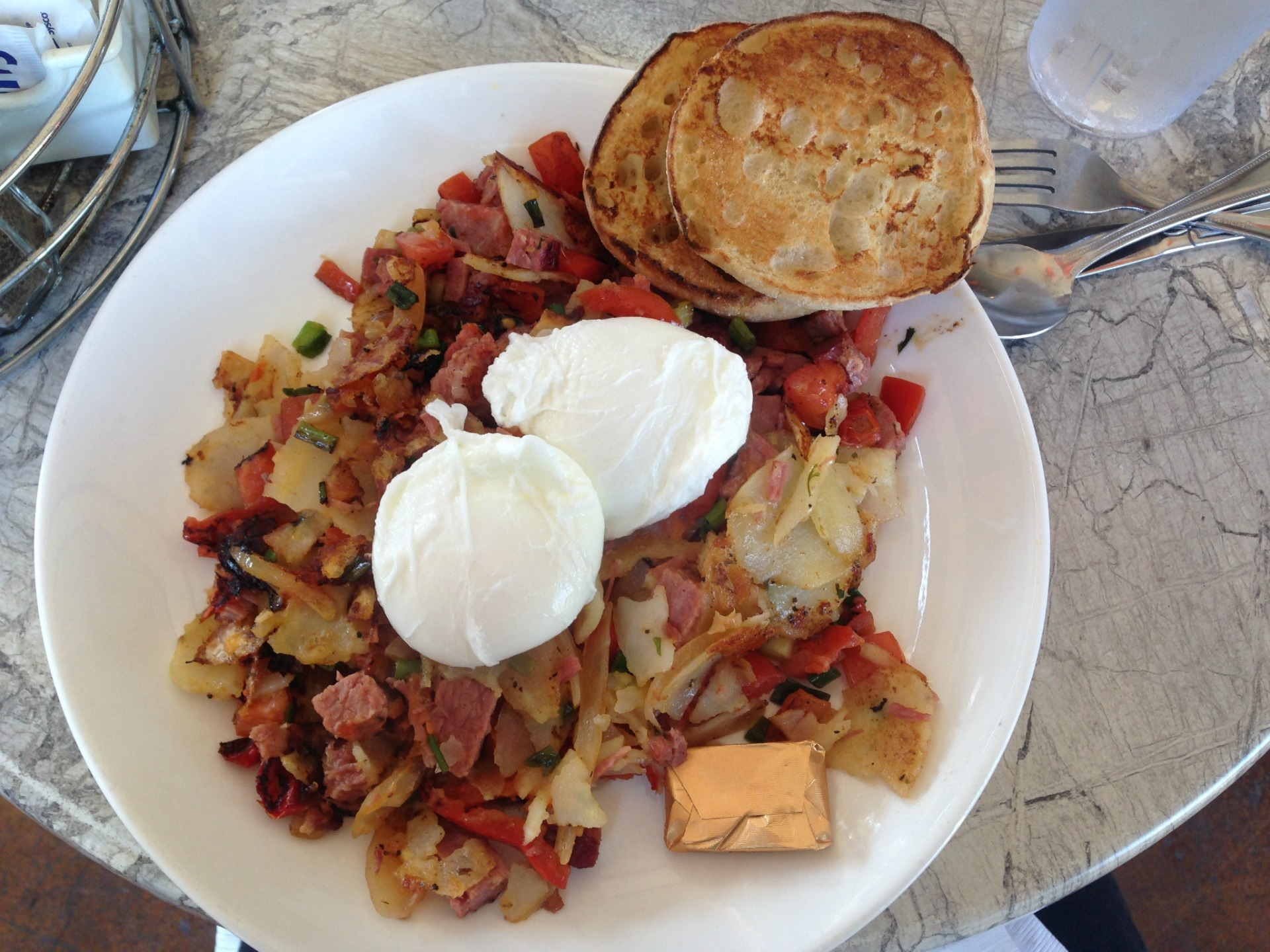 Corned beef hash at Cafe M