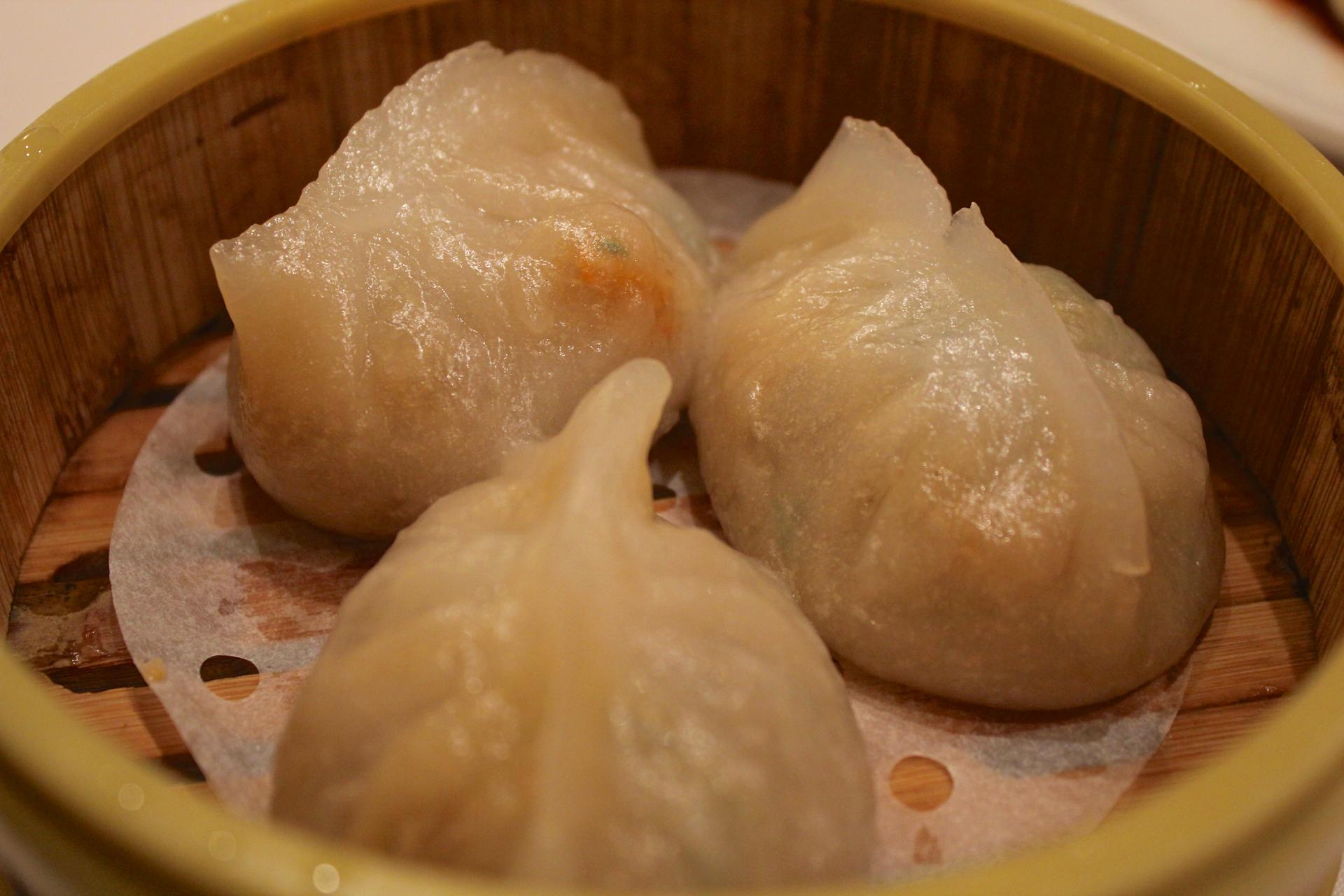 Pork and dried shrimp dumplings at Tai Pan.