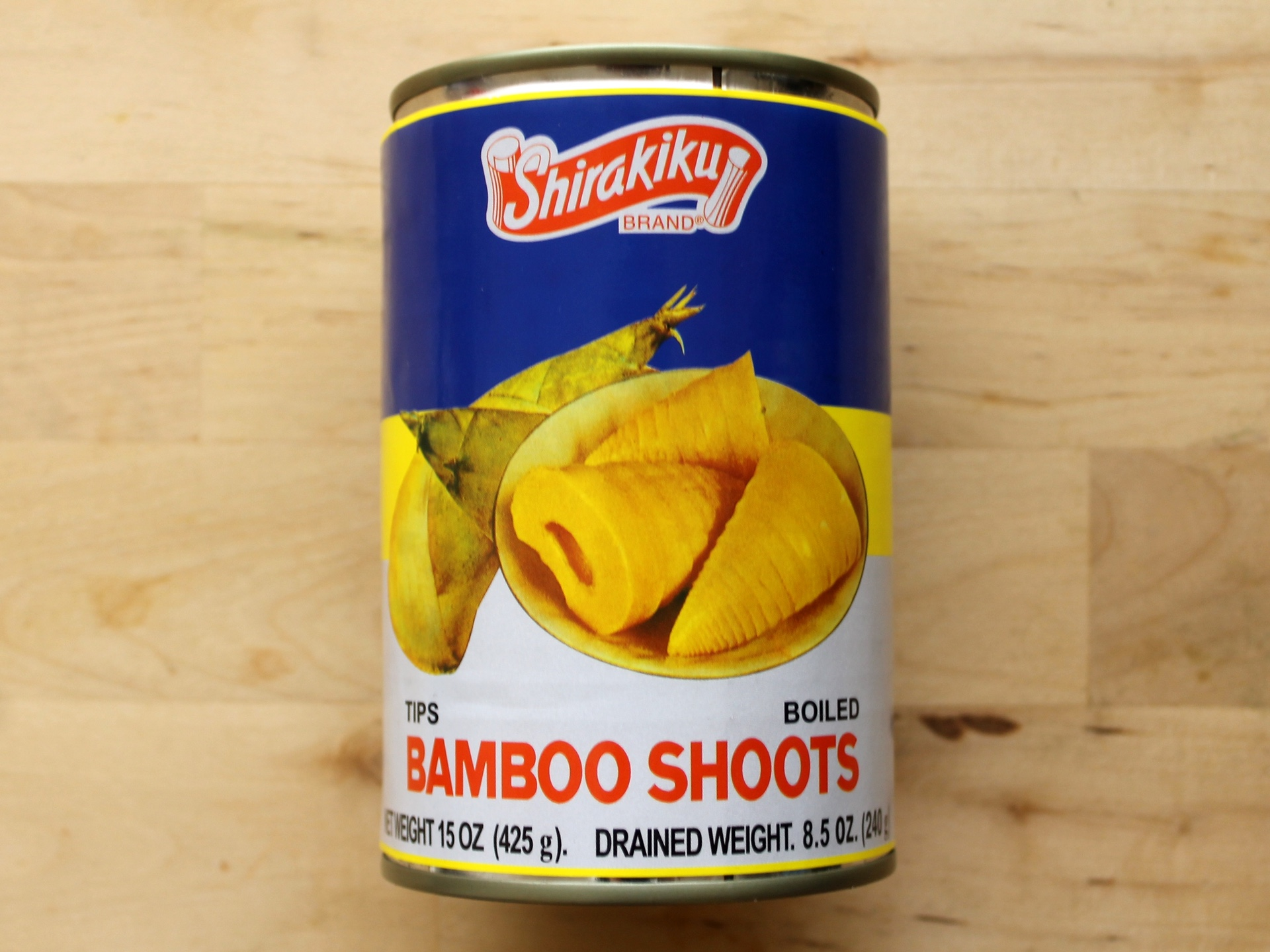Bamboo shoots are most often found canned in water. You can buy tips and slice them yourself, or you can buy the bamboo pre-sliced.