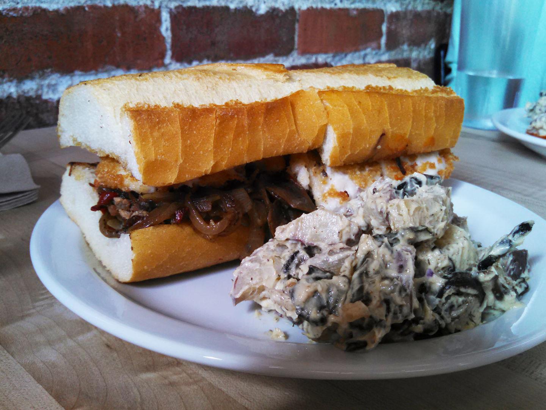The meatball and mozzarella sandwich at The Butcher's Son.