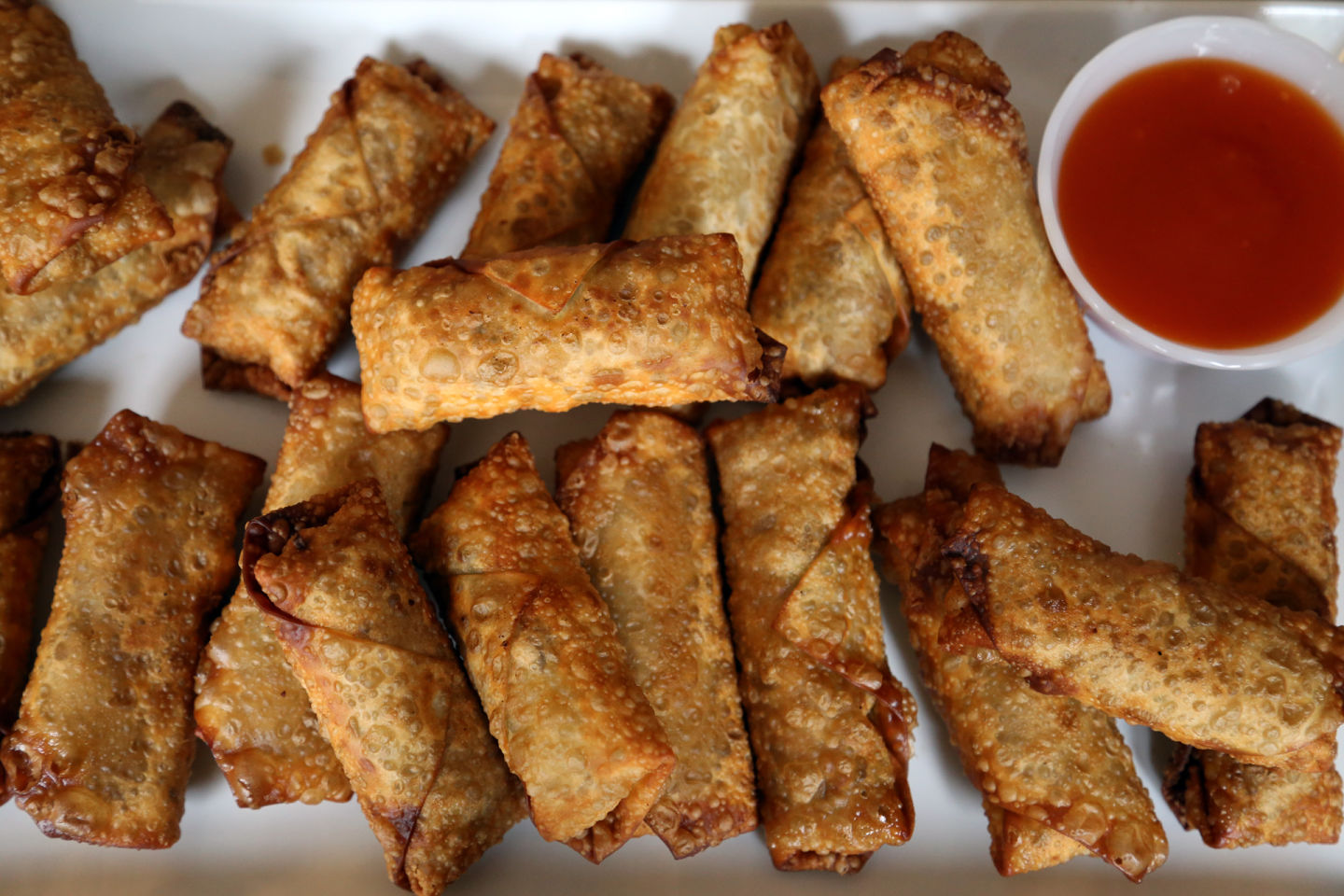 Get Your Super Bowl On: Mom's Chicken and Veggie Eggrolls