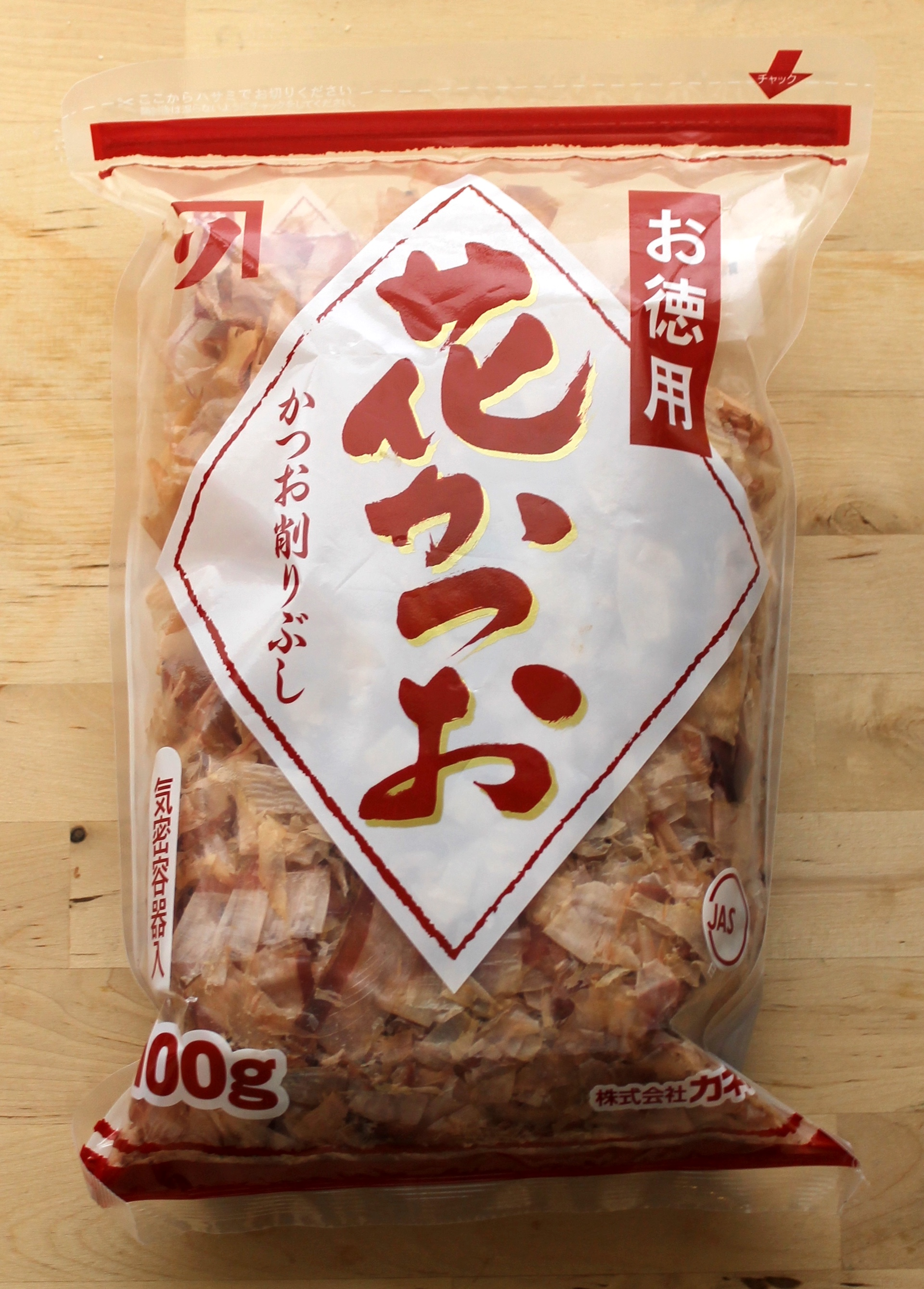 Katsuobushi is flaked cured bonito tuna. It is also traditionally used in dashi stock.