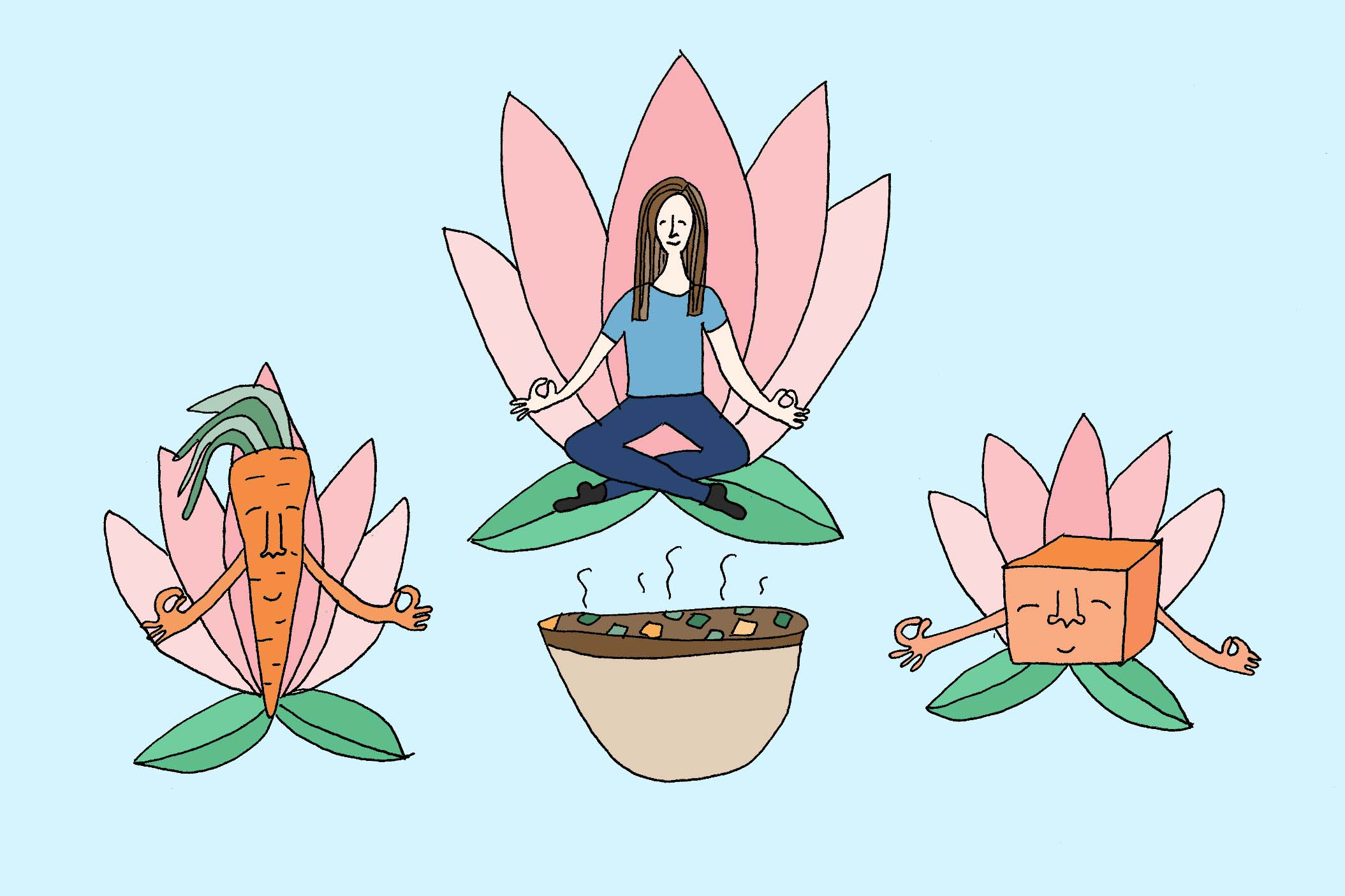 Meditation and Mindful Vegetables
