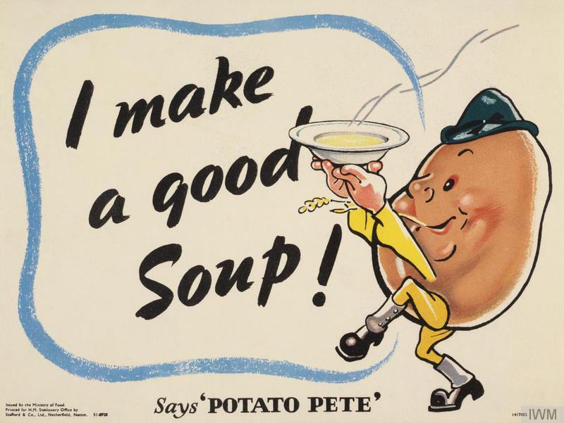 During World War II, Potato Pete, a dapper cartoon spud with a jaunty cap and spats, instructed U.K. consumers on the humble tuber's many uses – not just in standards like scalloped potatoes and savory pies, but also in more surprising options, like potato scones and waffles.
