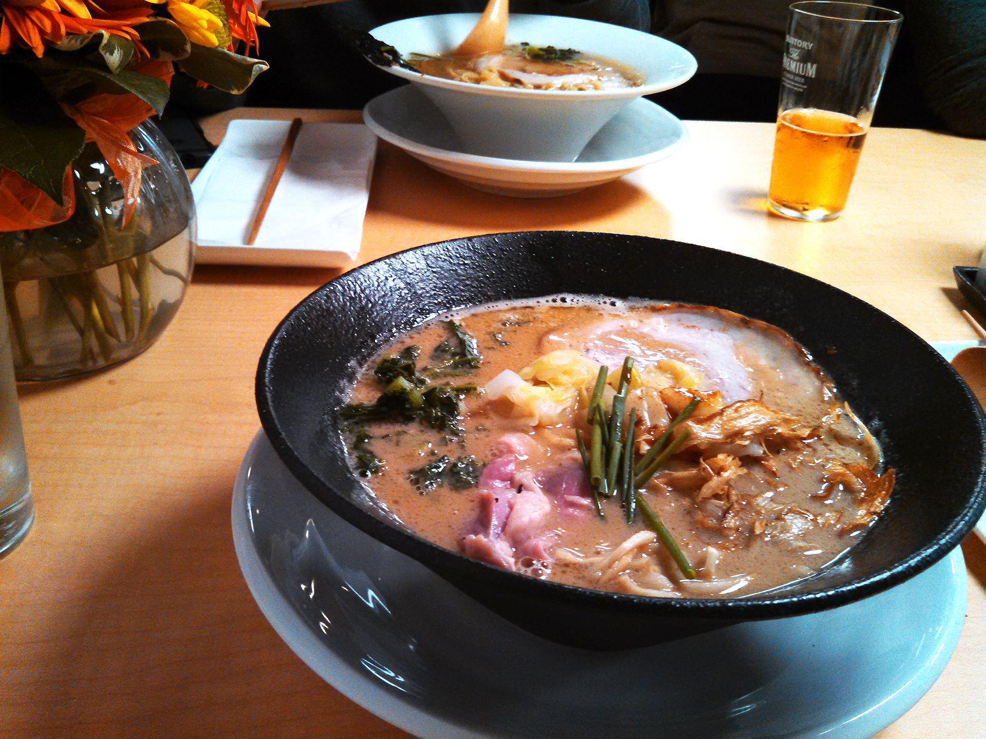 Tori paitan ramen with pork and duck.